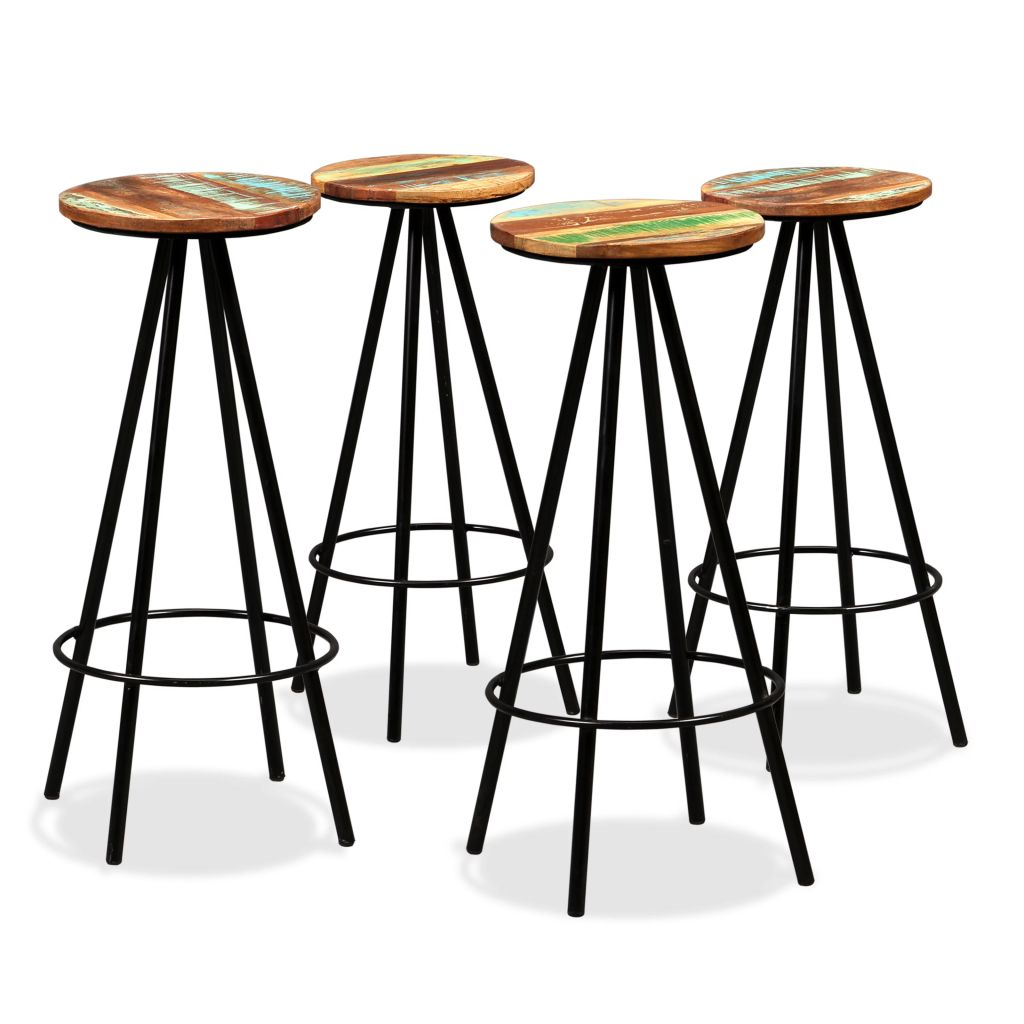 5 Piece Bar Set Solid Reclaimed Wood 8