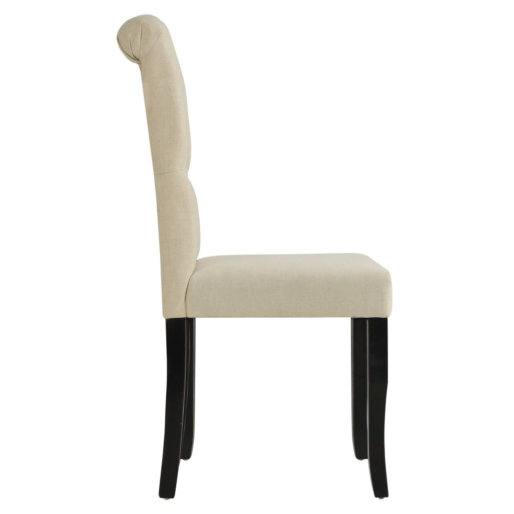 Dining Chairs 6 pcs Cream Fabric 4
