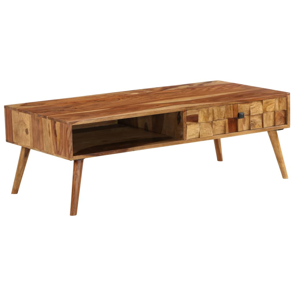 Coffee Table Solid Sheesham Wood with Honey Finish 110x50x37 cm 11