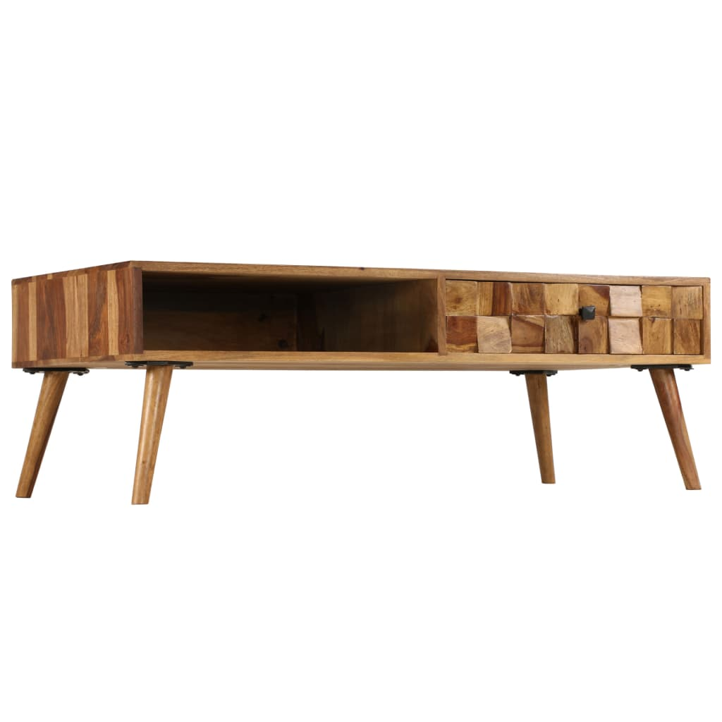 Coffee Table Solid Sheesham Wood with Honey Finish 110x50x37 cm 3