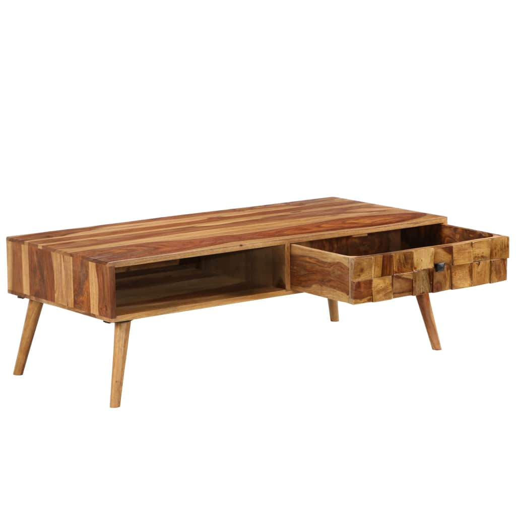 Coffee Table Solid Sheesham Wood with Honey Finish 110x50x37 cm 4
