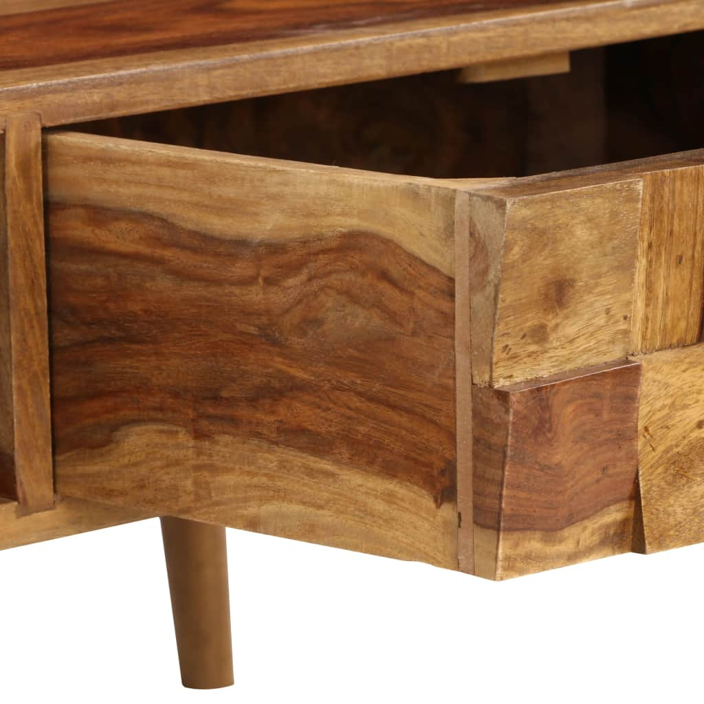 Coffee Table Solid Sheesham Wood with Honey Finish 110x50x37 cm 9