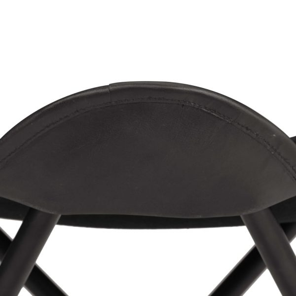 Butterfly Stool Black Real Leather 4