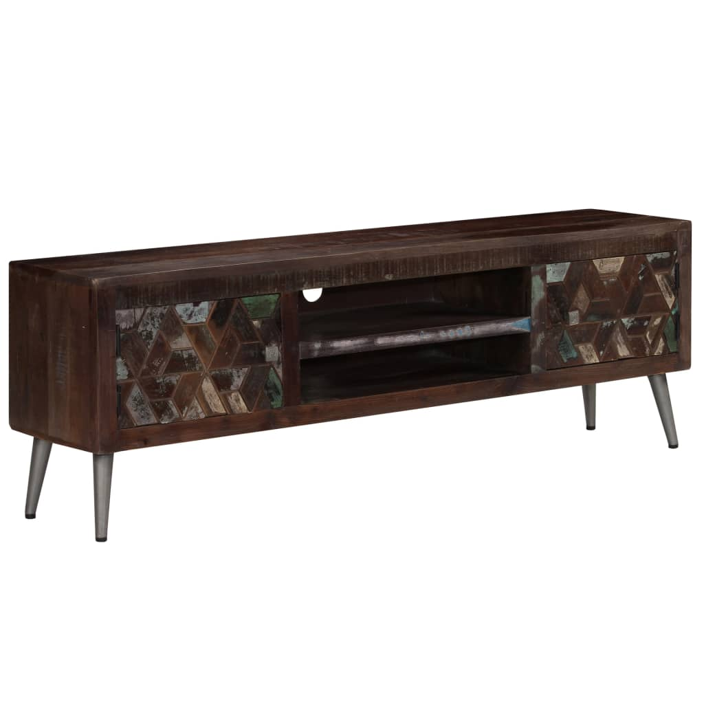 TV Cabinet Solid Reclaimed Wood 140x30x45 cm 1