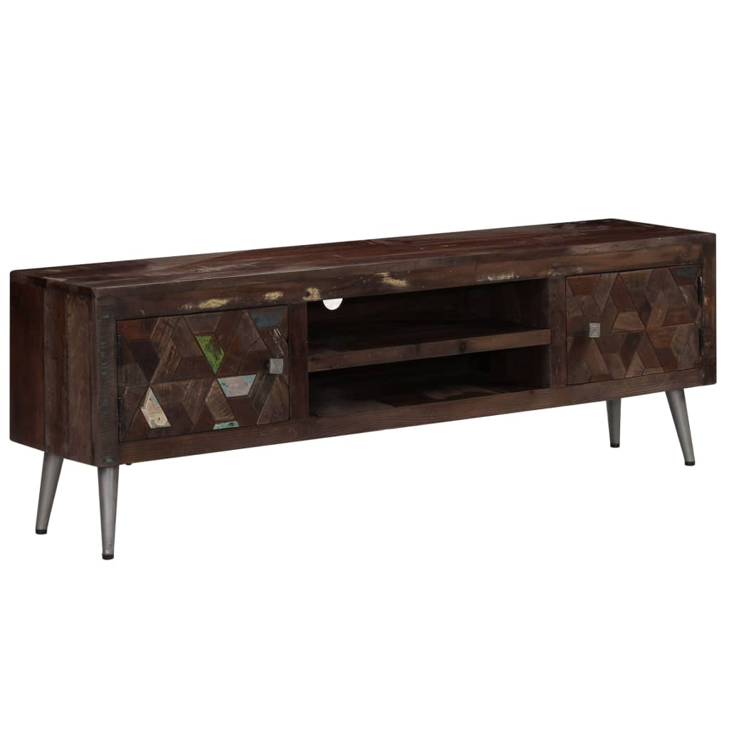 TV Cabinet Solid Reclaimed Wood 140x30x45 cm 11