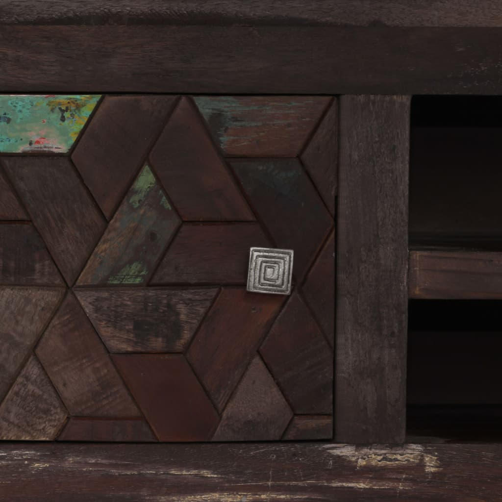 TV Cabinet Solid Reclaimed Wood 140x30x45 cm 4