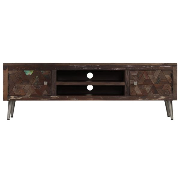 TV Cabinet Solid Reclaimed Wood 140x30x45 cm 6