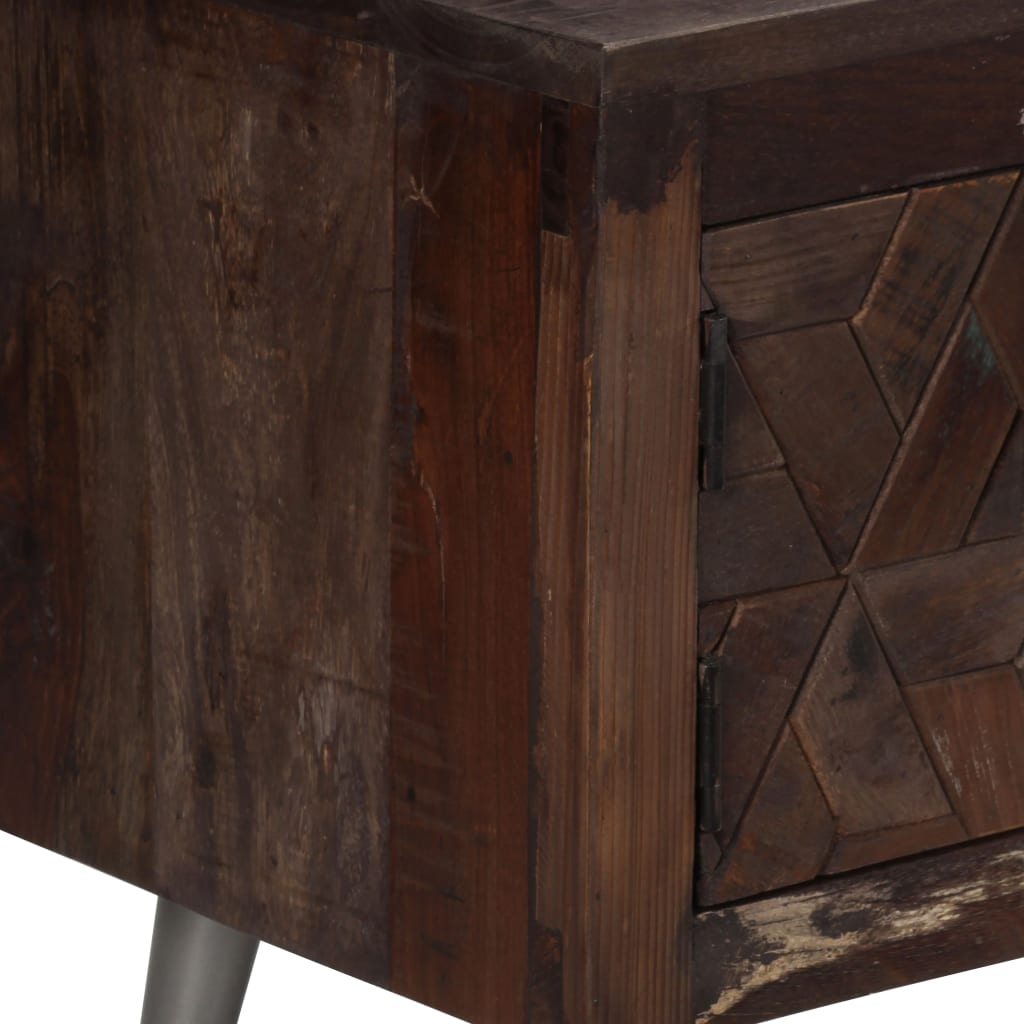 TV Cabinet Solid Reclaimed Wood 140x30x45 cm 8