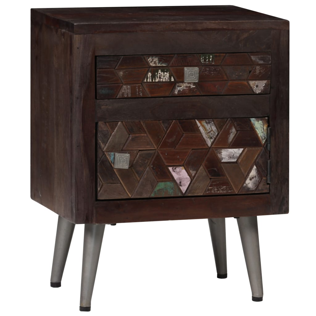 Bedside Cabinet Solid Reclaimed Wood 40x30x50 cm 1