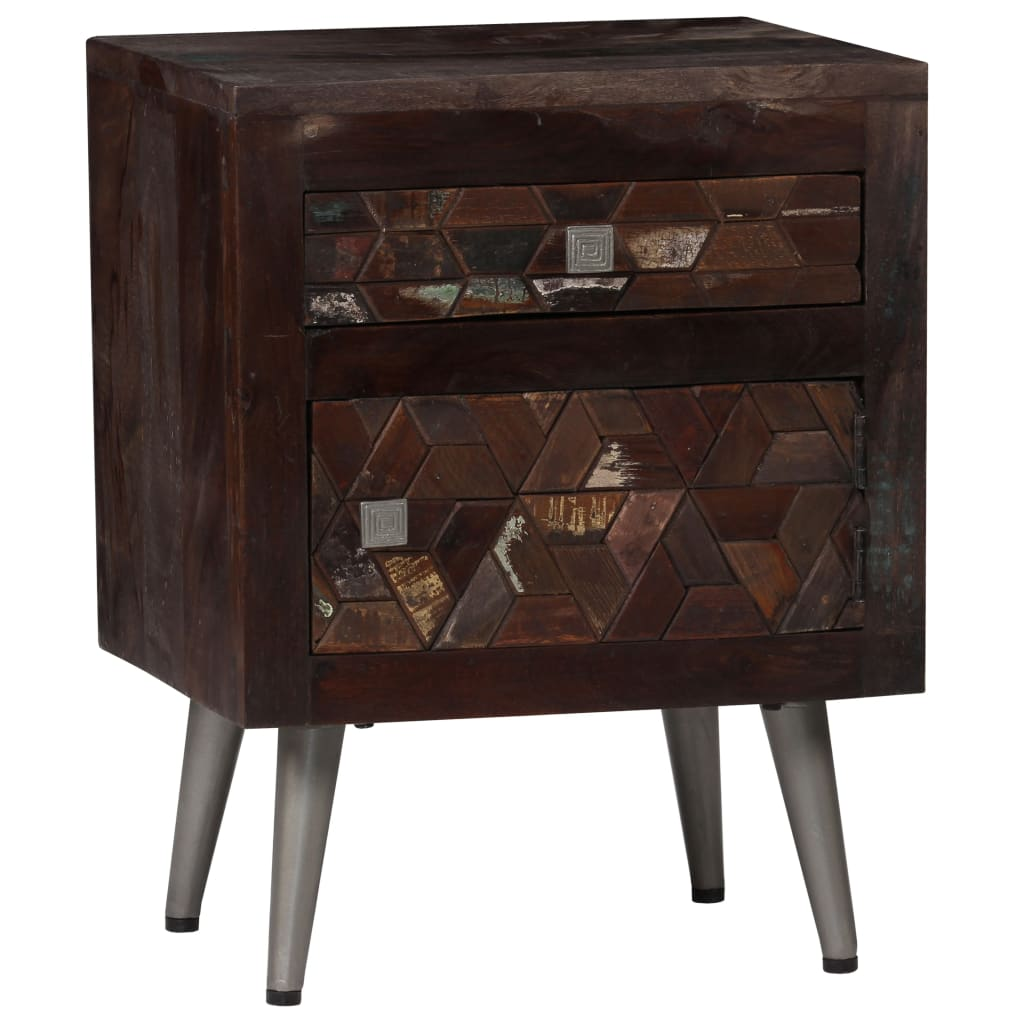 Bedside Cabinet Solid Reclaimed Wood 40x30x50 cm 11