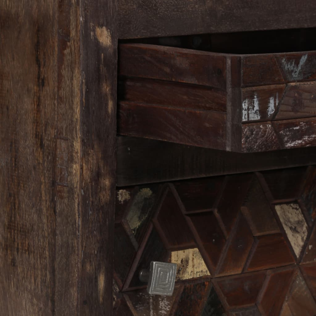 Bedside Cabinet Solid Reclaimed Wood 40x30x50 cm 4