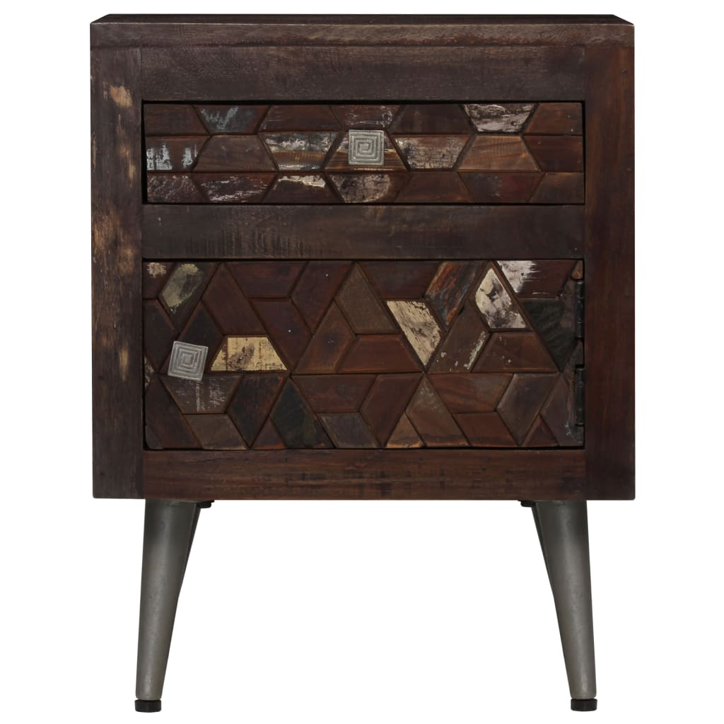 Bedside Cabinet Solid Reclaimed Wood 40x30x50 cm 5