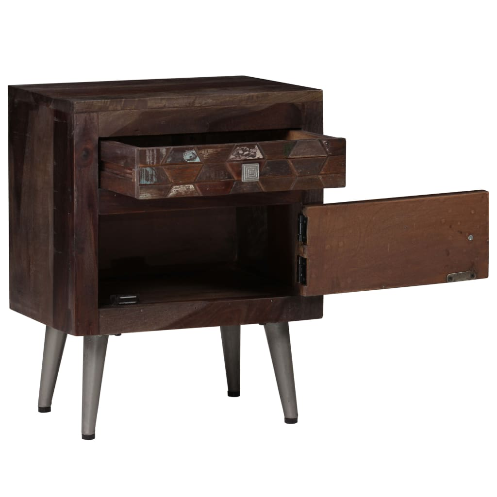 Bedside Cabinet Solid Reclaimed Wood 40x30x50 cm 6