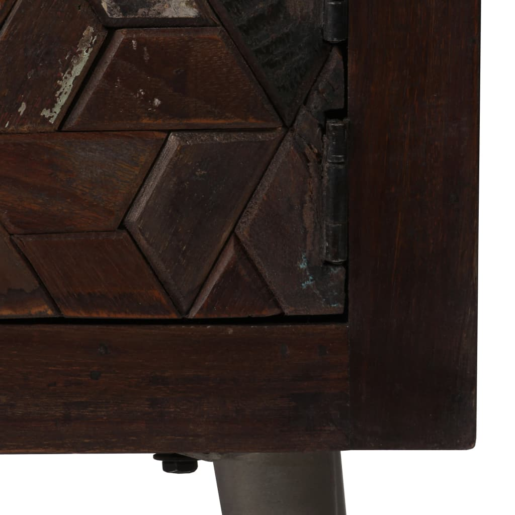 Bedside Cabinet Solid Reclaimed Wood 40x30x50 cm 8