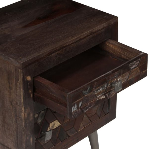 Bedside Cabinet Solid Reclaimed Wood 40x30x50 cm 10