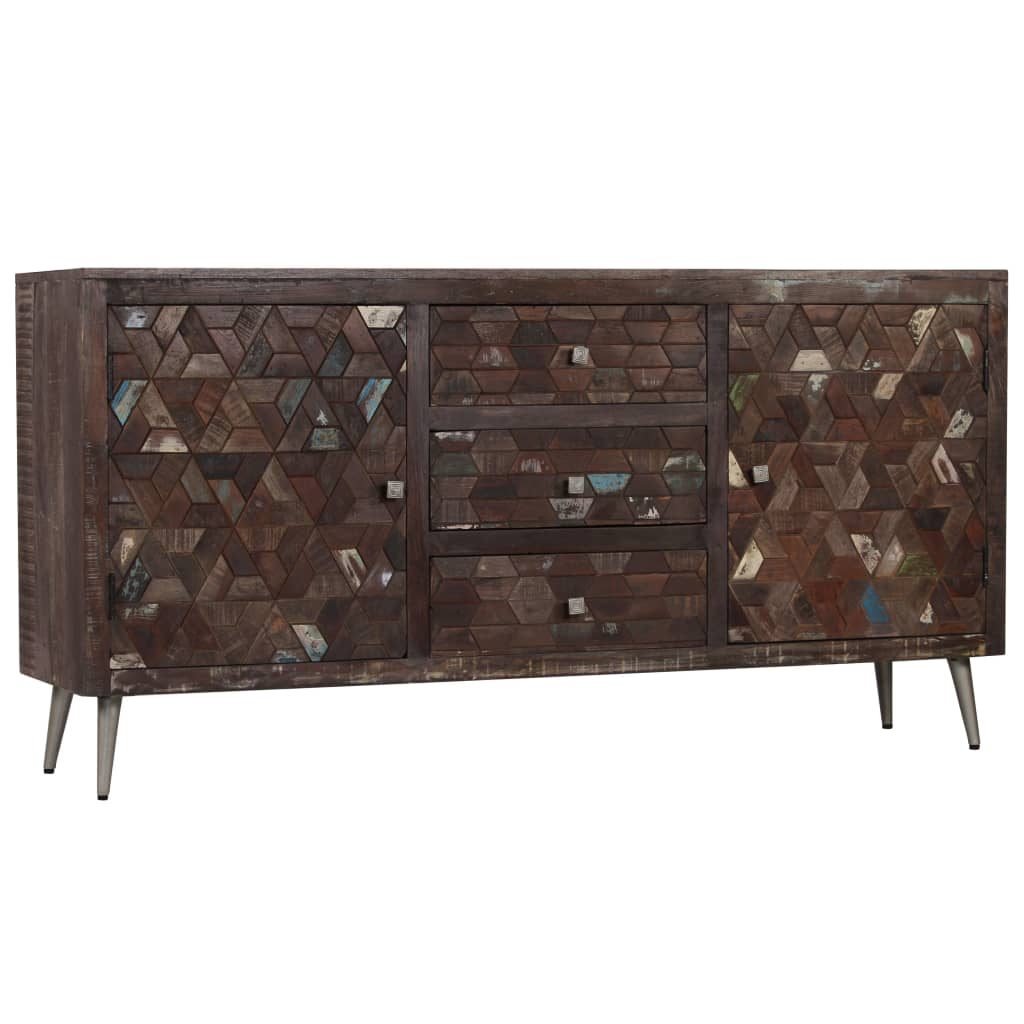 Sideboard Solid Reclaimed Wood 160x40x80 cm