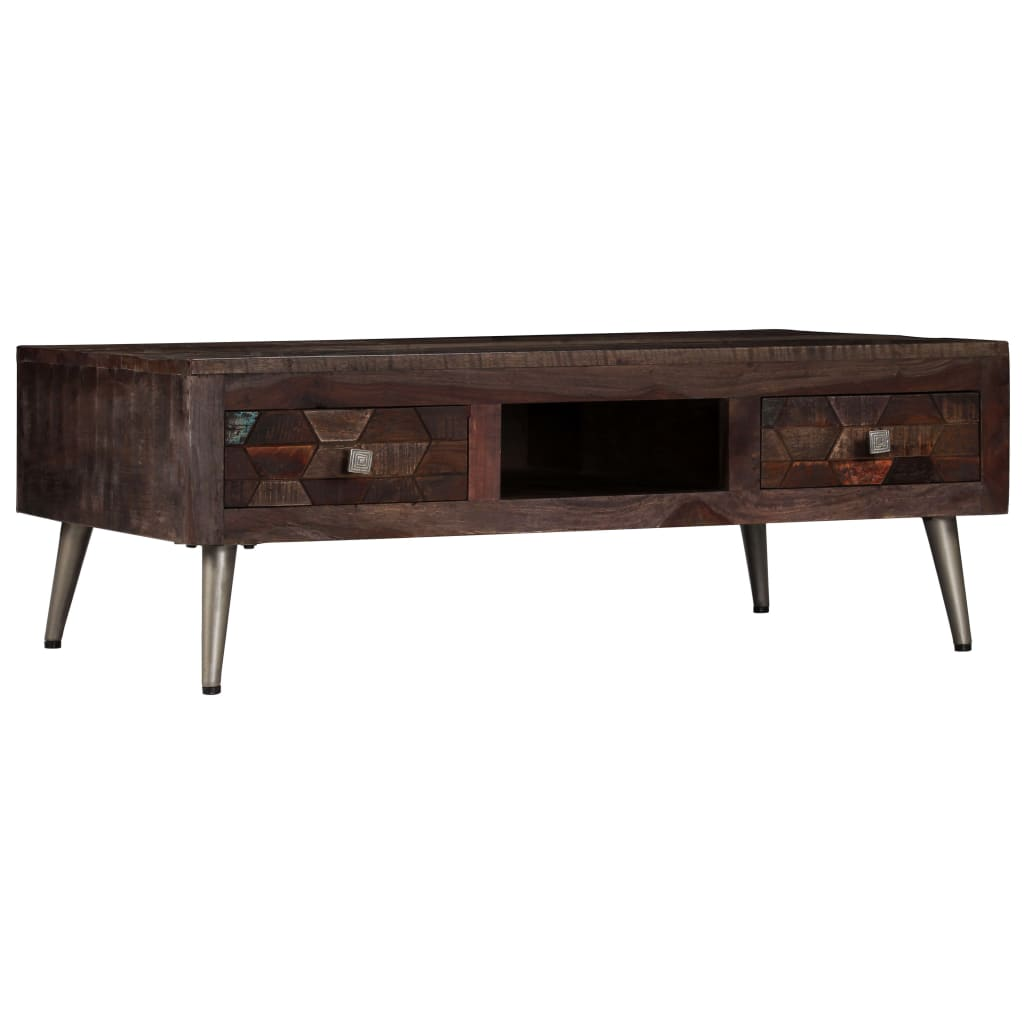 Coffee Table Solid Reclaimed Wood 100x60x35 cm