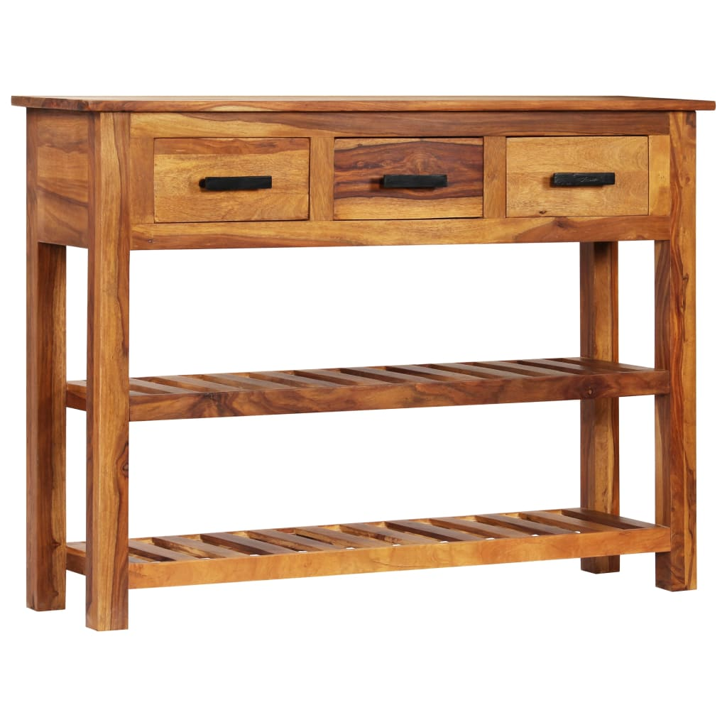 Sideboard with 3 Drawers 110x30x80 cm Solid Sheesham Wood 1