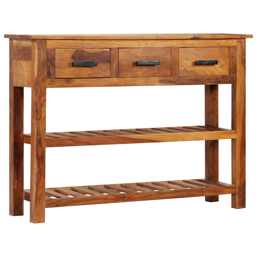 Sideboard with 3 Drawers 110x30x80 cm Solid Sheesham Wood 11