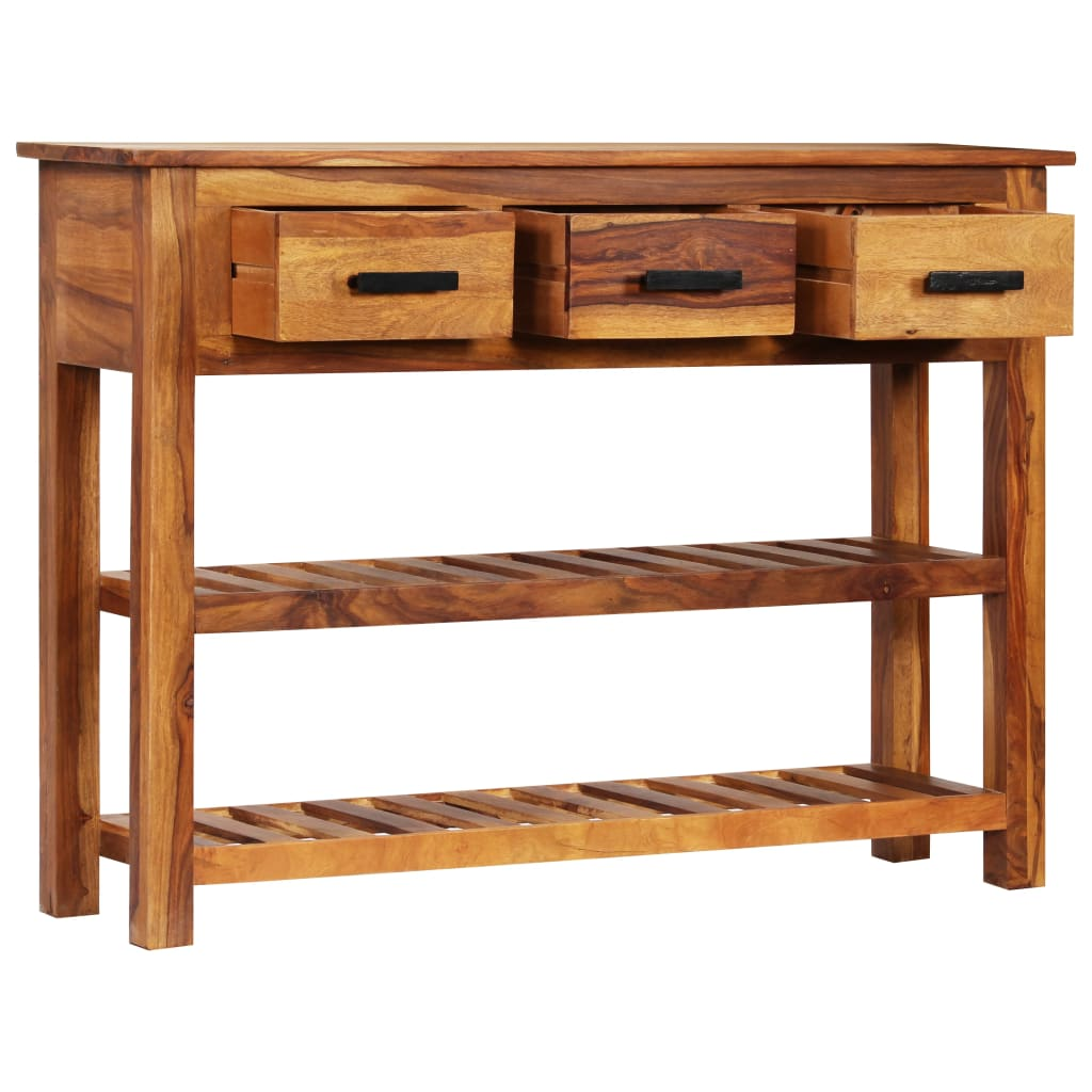 Sideboard with 3 Drawers 110x30x80 cm Solid Sheesham Wood 3