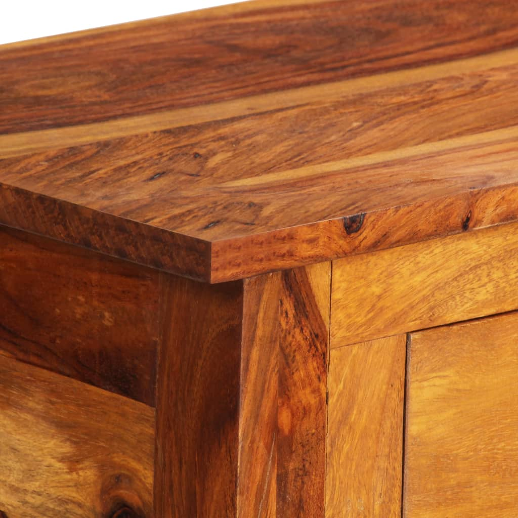 Sideboard with 3 Drawers 110x30x80 cm Solid Sheesham Wood 4