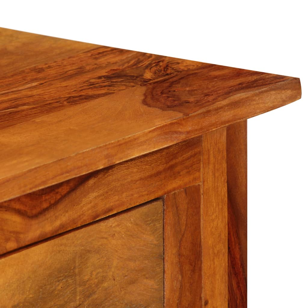 Sideboard with 3 Drawers 110x30x80 cm Solid Sheesham Wood 5