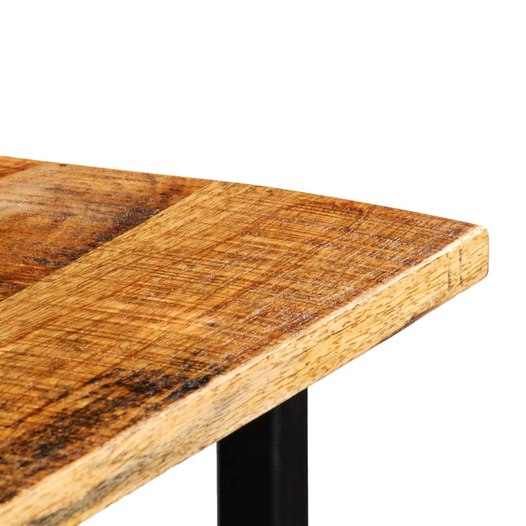 Tractor Bar Table Solid Mango Wood Red 60x120x107 cm 6