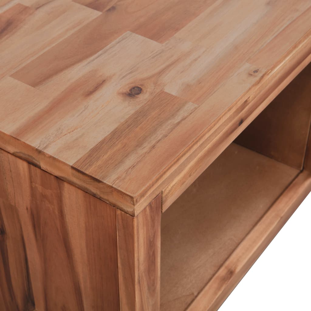 Coffee Table Solid Acacia Wood 90x50x37