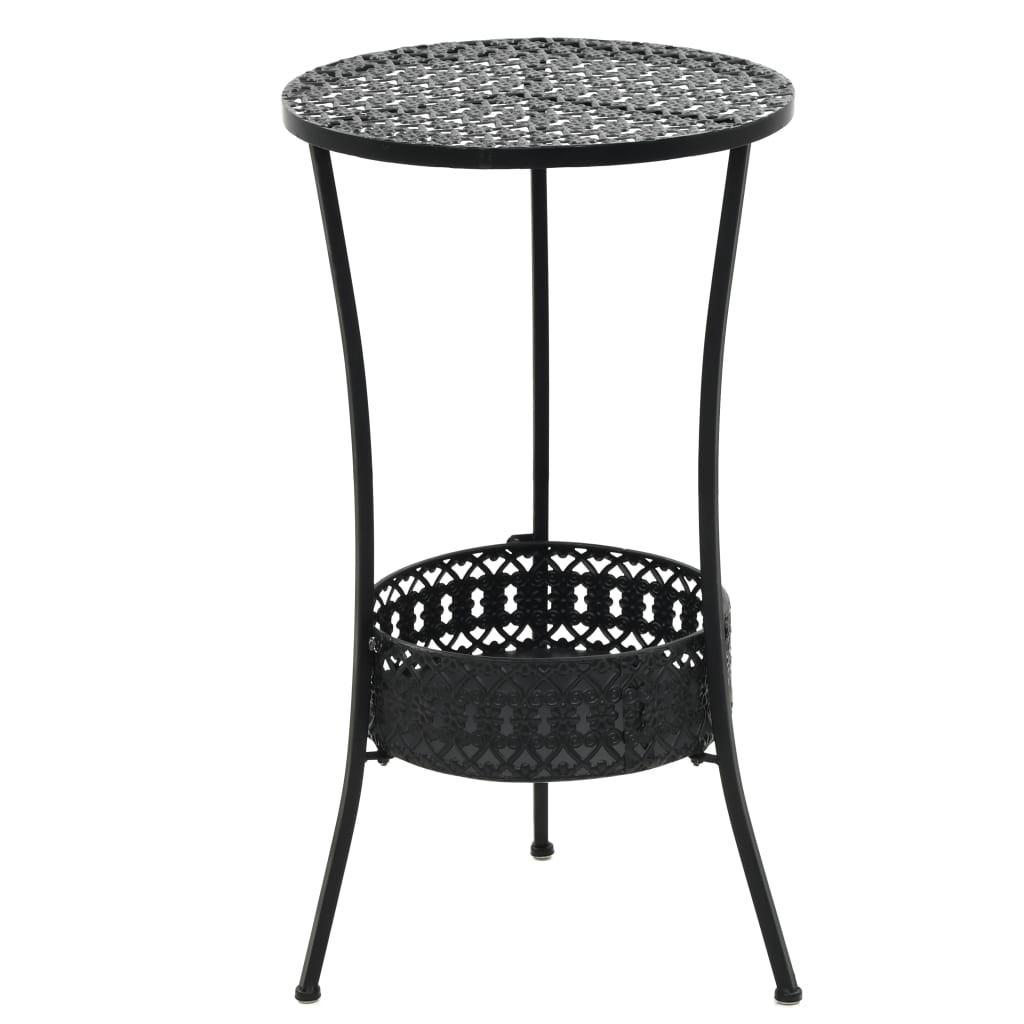 Bistro Table Black 40×70 cm Metal 1