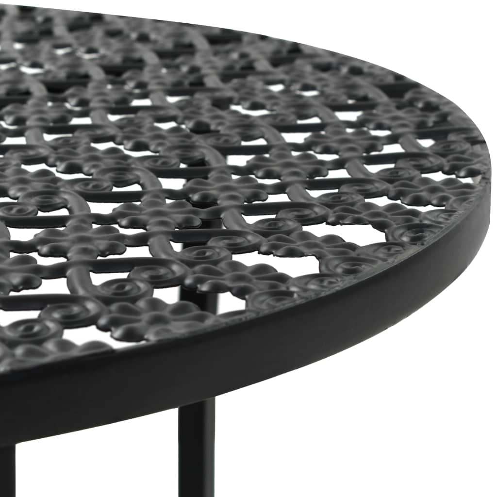 Bistro Table Black 40×70 cm Metal 3