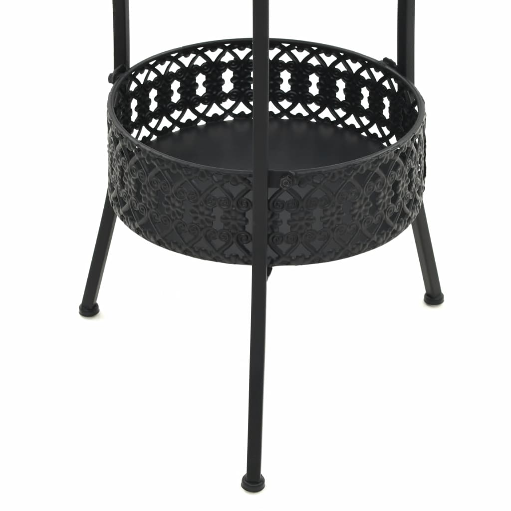 Bistro Table Black 40×70 cm Metal 5