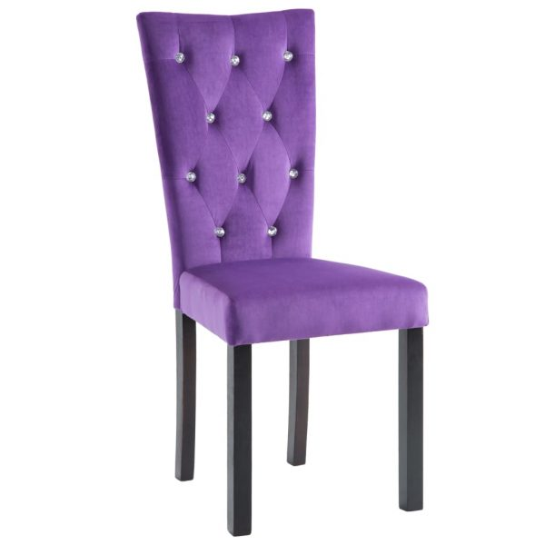 Dining Chairs 4 pcs Purple Velvet 4