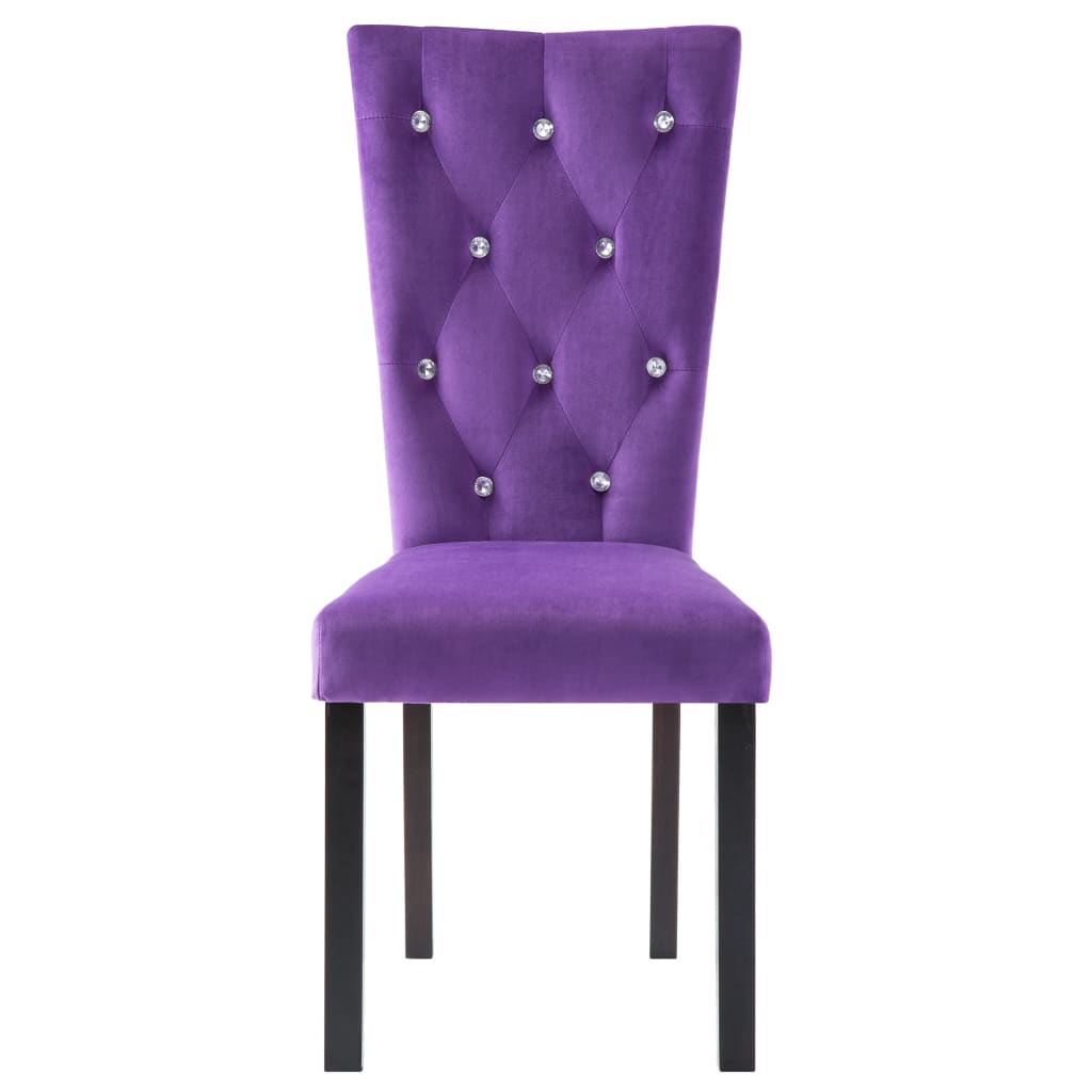 Dining Chairs 4 pcs Purple Velvet 5