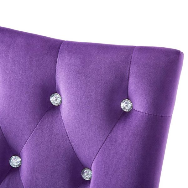 Dining Chairs 4 pcs Purple Velvet 9