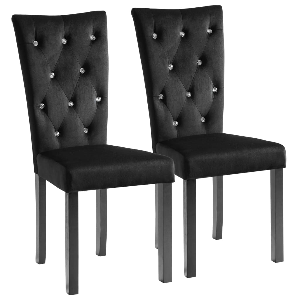 Dining Chairs 2 pcs Black Velvet 2
