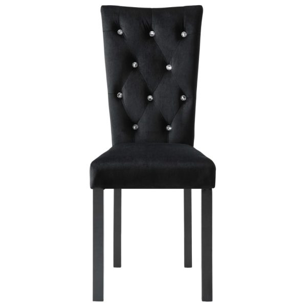Dining Chairs 2 pcs Black Velvet 5