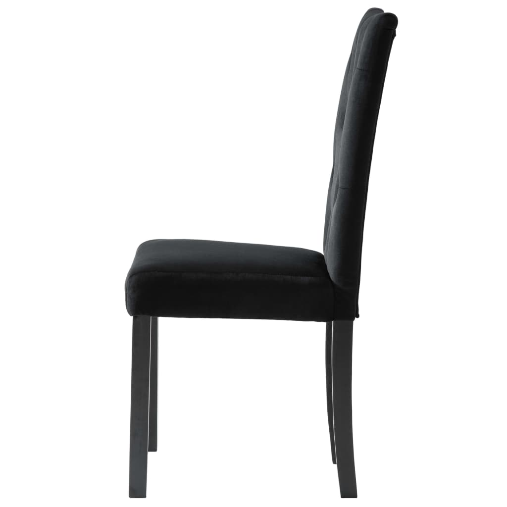 Dining Chairs 2 pcs Black Velvet 6