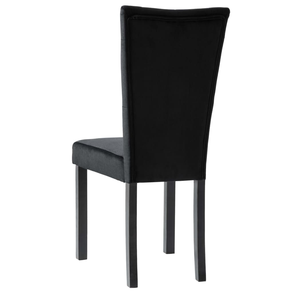 Dining Chairs 2 pcs Black Velvet 7