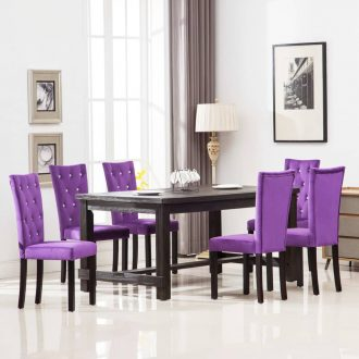 Dining Chairs 6 pcs Purple Velvet 1