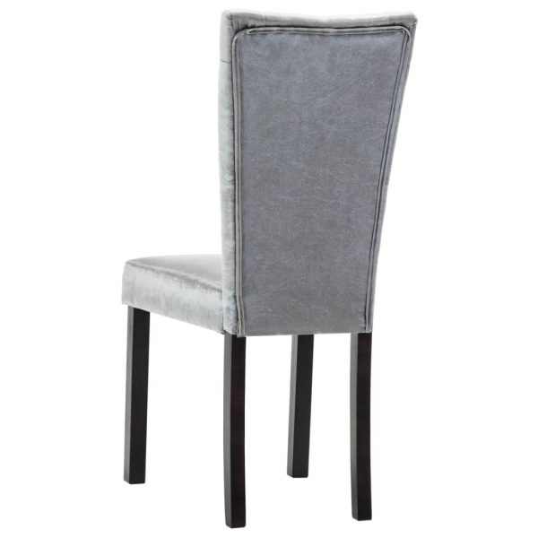Dining Chairs 6 pcs Silver Velvet 7