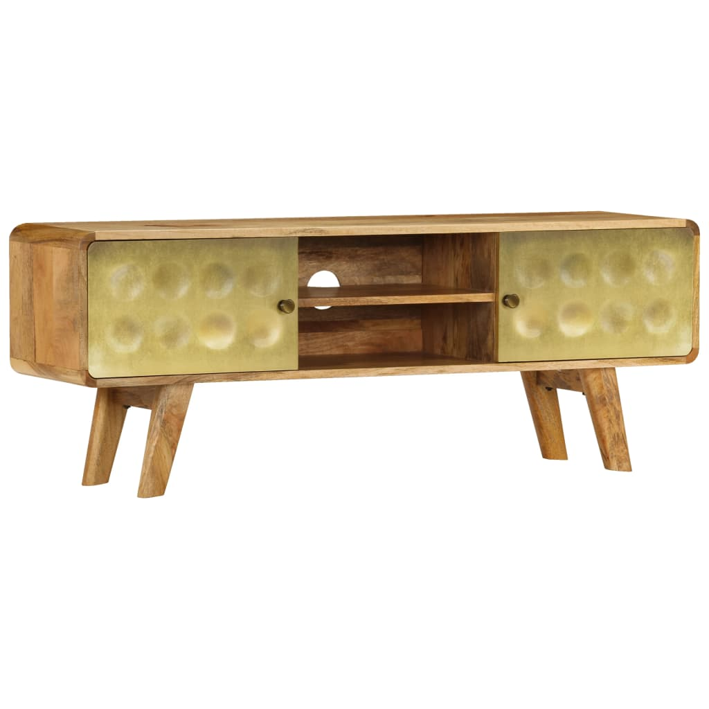 TV Cabinet Solid Mango Wood 120x30x45 cm 1