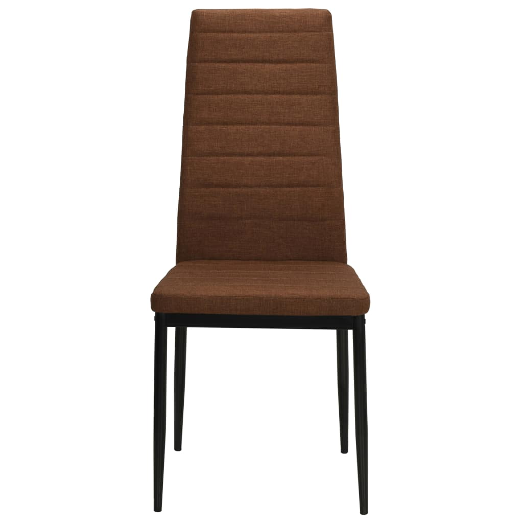 Dining Chairs 4 pcs Brown Fabric 4