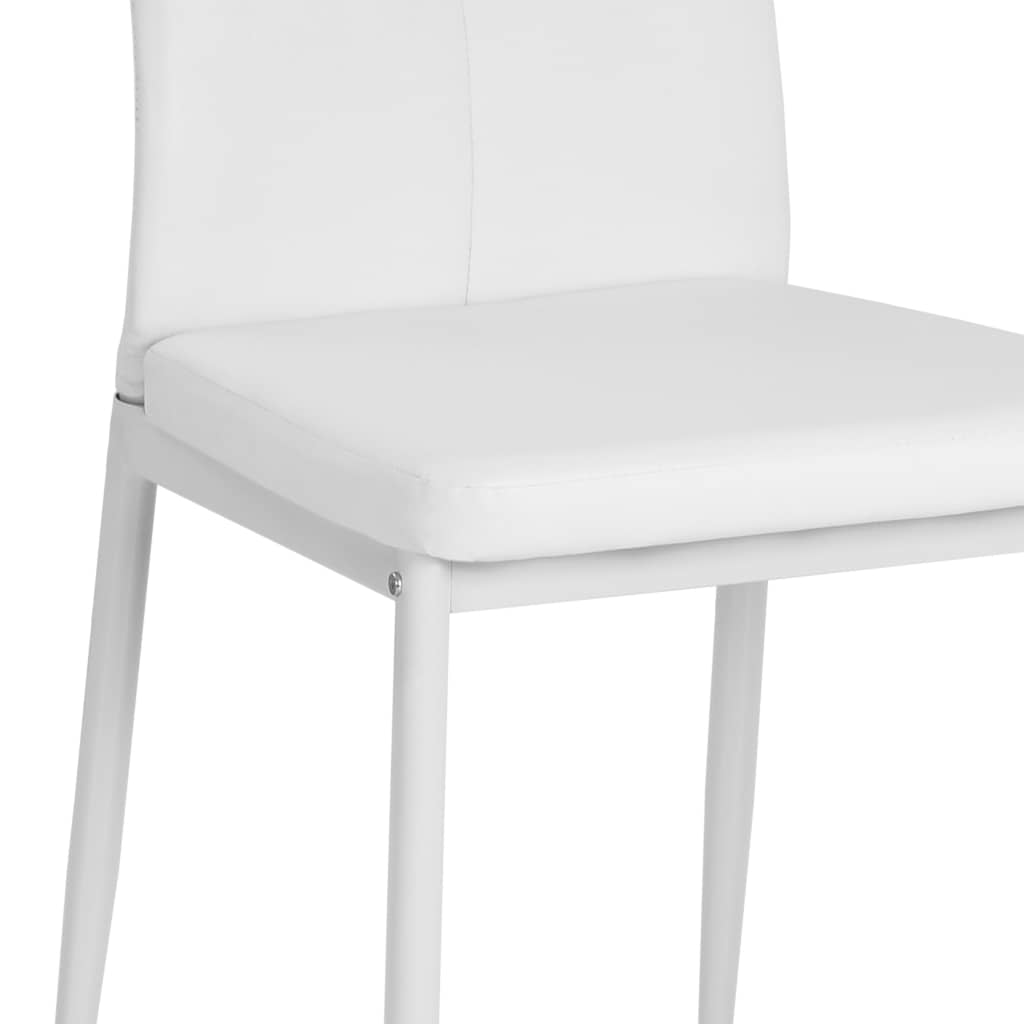Dining Chairs 4 pcs White Faux Leather 8
