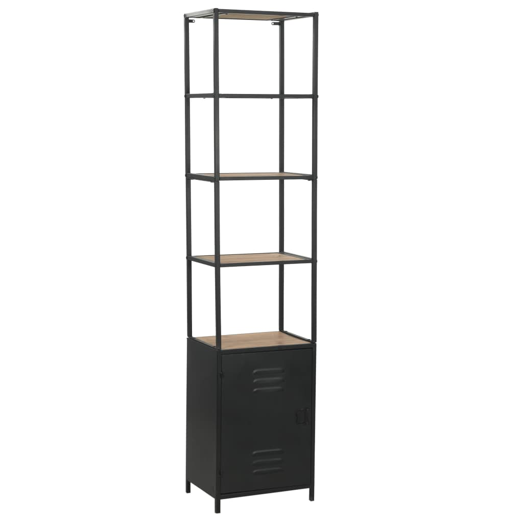 Bookcase Solid Firwood and Steel 40.5×32