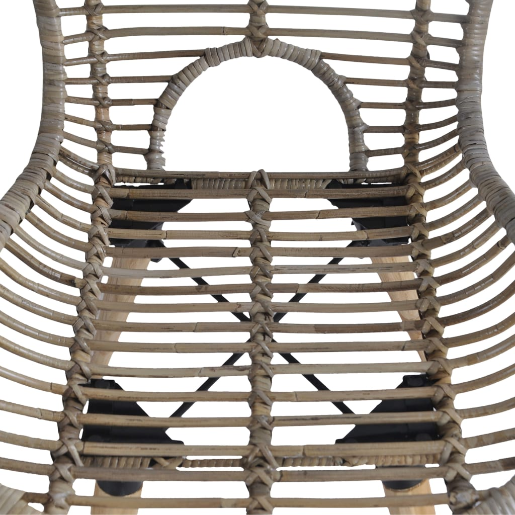 Dining Chairs 4 pcs Brown Natural Rattan 5
