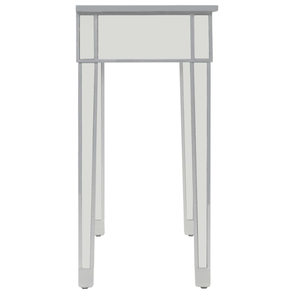 Mirrored Console Table MDF and Glass 106.5x38x76