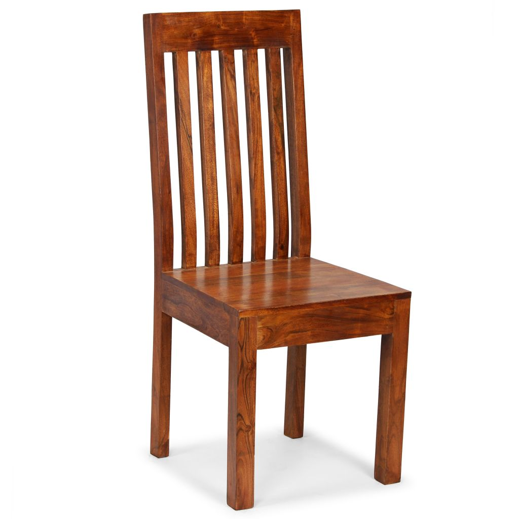 Dining Chairs 6 pcs Solid Wood with Sheesham Finish Modern 2