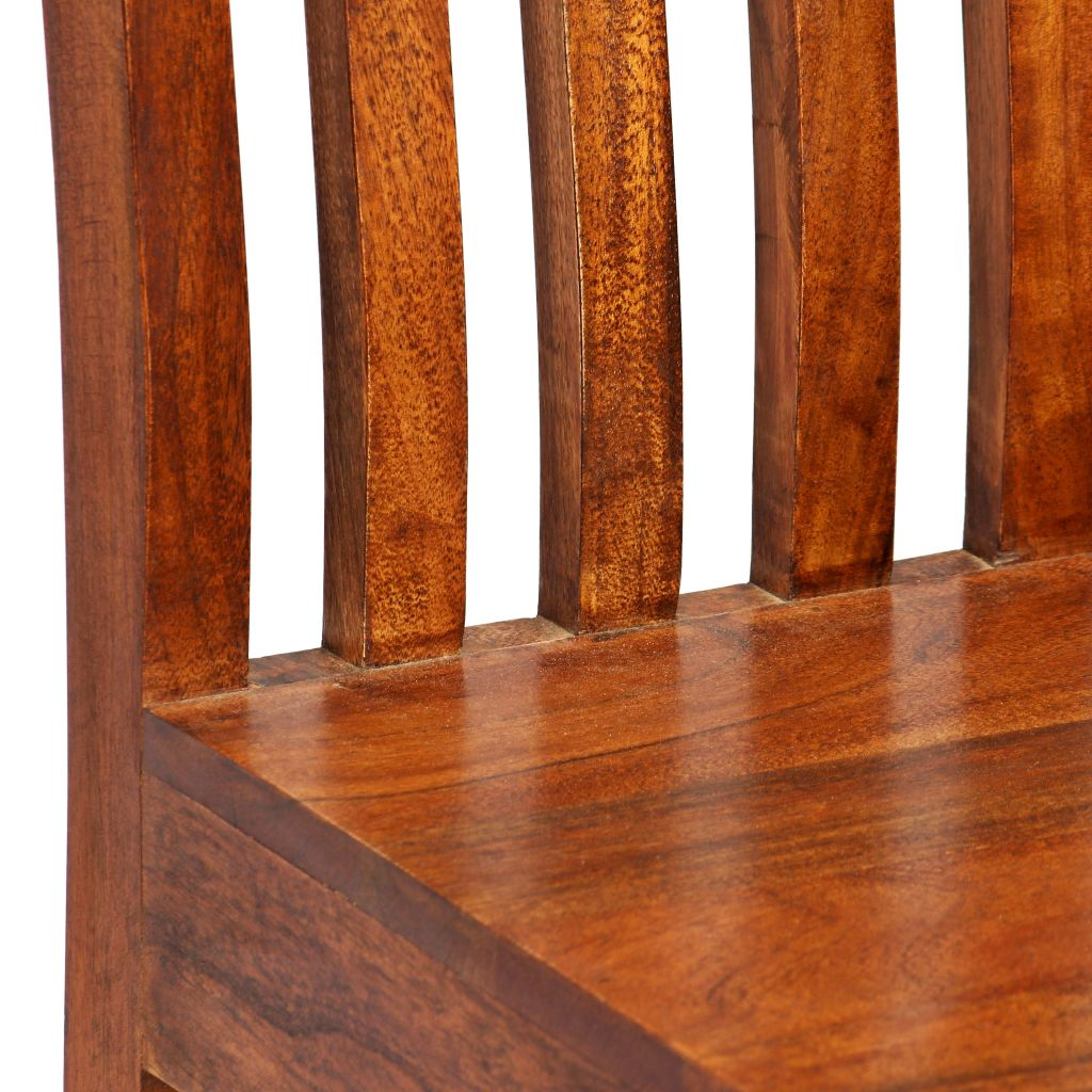 Dining Chairs 6 pcs Solid Wood with Sheesham Finish Modern 5