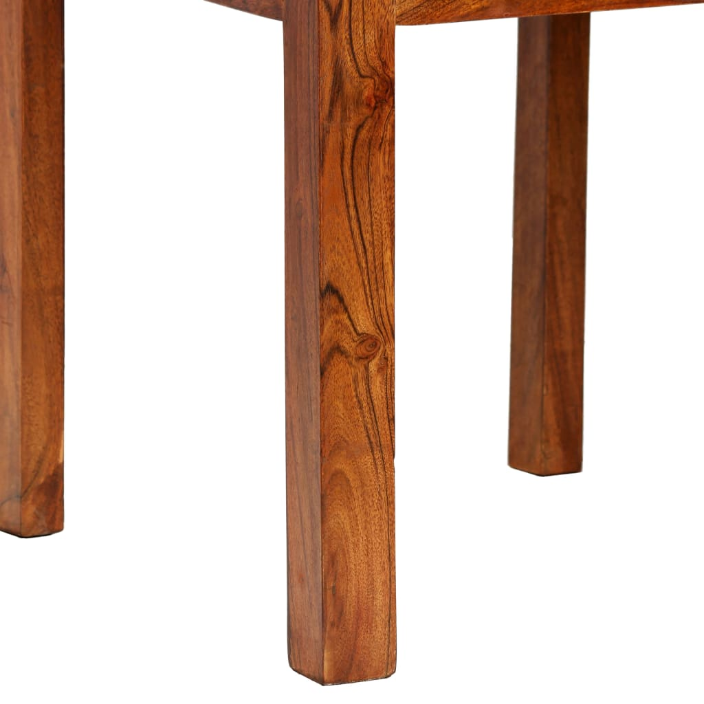 Dining Chairs 6 pcs Solid Wood with Sheesham Finish Modern 7
