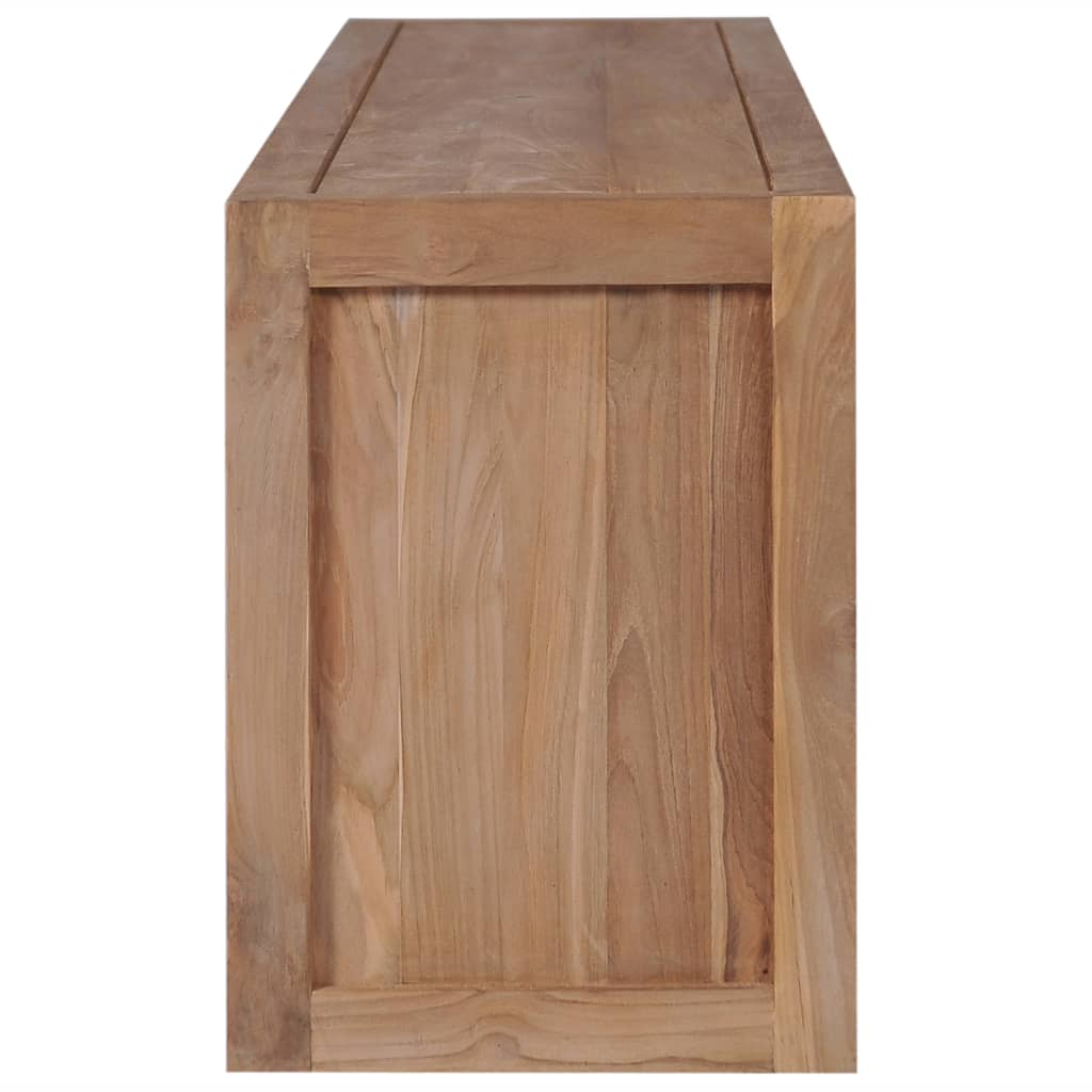 TV Cabinet Solid Teak Wood with Natural Finish 120x30x40 cm 3